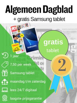 AD gratis tablet aanbieding