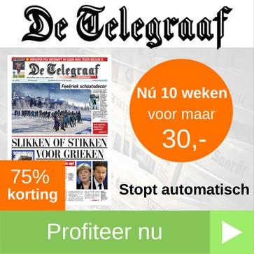 telegraaf abonnement 10 weken 30 euro web