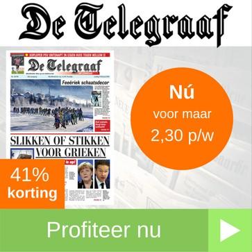 telegraaf jaarabonnement 2,3 per week web