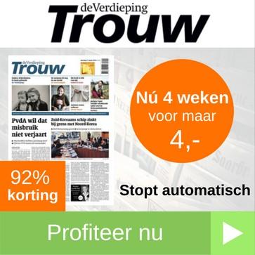 trouw proefabonnement 4 weken 4 euro web