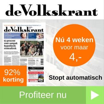 volkskrant proefabonnement 4 weken 4 euro web