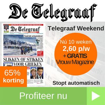 Telegraaf Weekend aanbieding